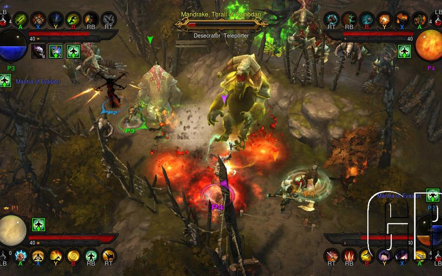 """Heroes face the onslaught of a demonic invasion in """"Diablo III,"""" now out on consoles."""