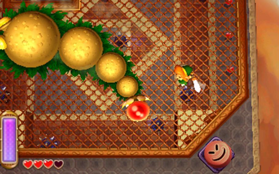 "In ""The Legend of Zelda: A Link Between Worlds"" uses the top-down perspective of old-school games. Combat is also easier."
