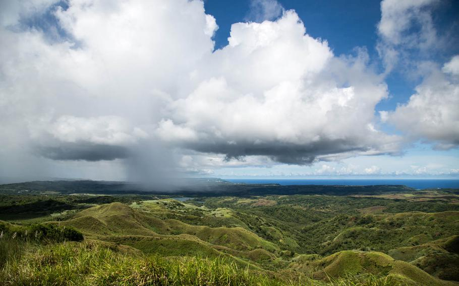 The view of northern Guam from Mount Lamlam on Aug. 16.