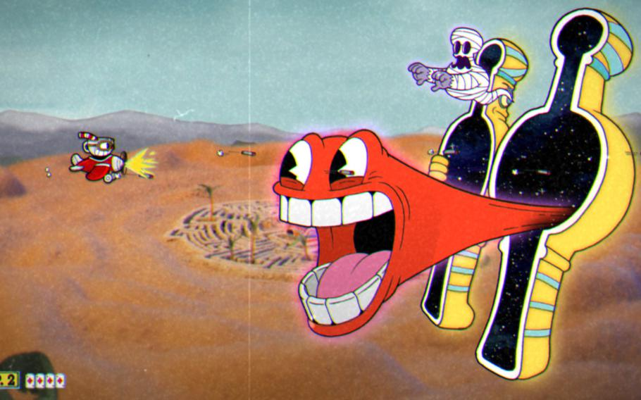"""Every aspect of the visual design of """"Cuphead"""" sells the 1930s cartoon aesthetic approach."""