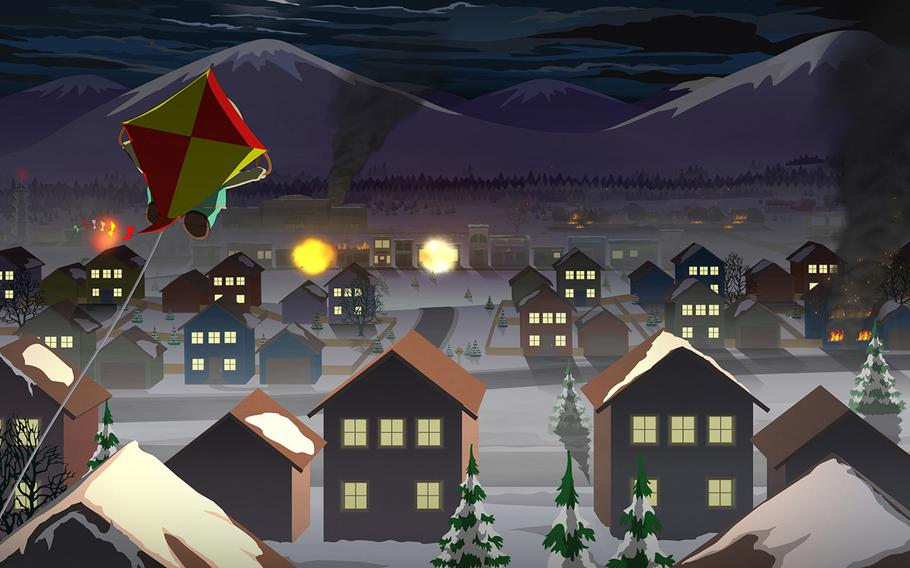 """South Park is a fully explorable town, filled with kooky characters that provide uniquely South Park-themed missions and side quests, in """"South Park: The Fractured But Whole."""""""