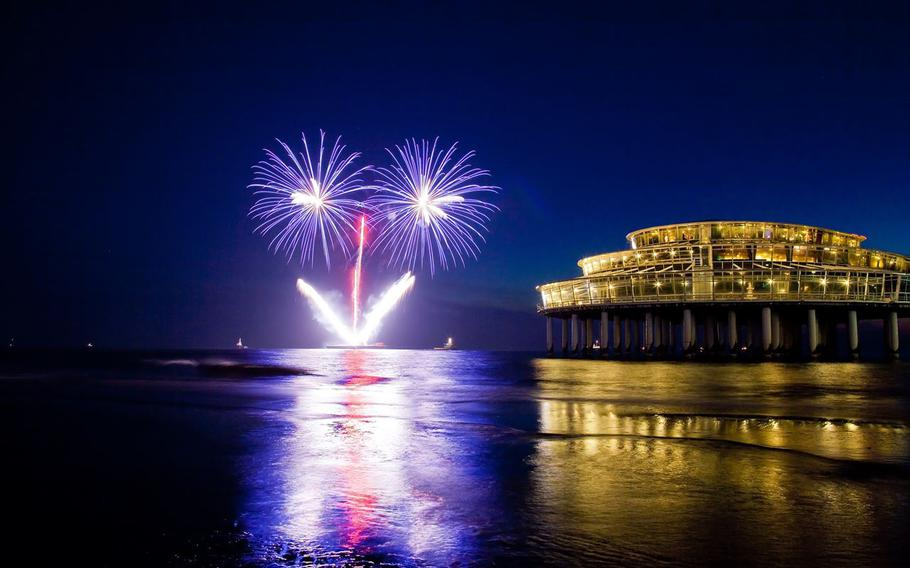 This weekend's Fireworks Festival in Scheveningen, Netherlands, just outside of The Hague, include nightly fireworks competitions, performances by fire artists, dance ensembles and other street acts.