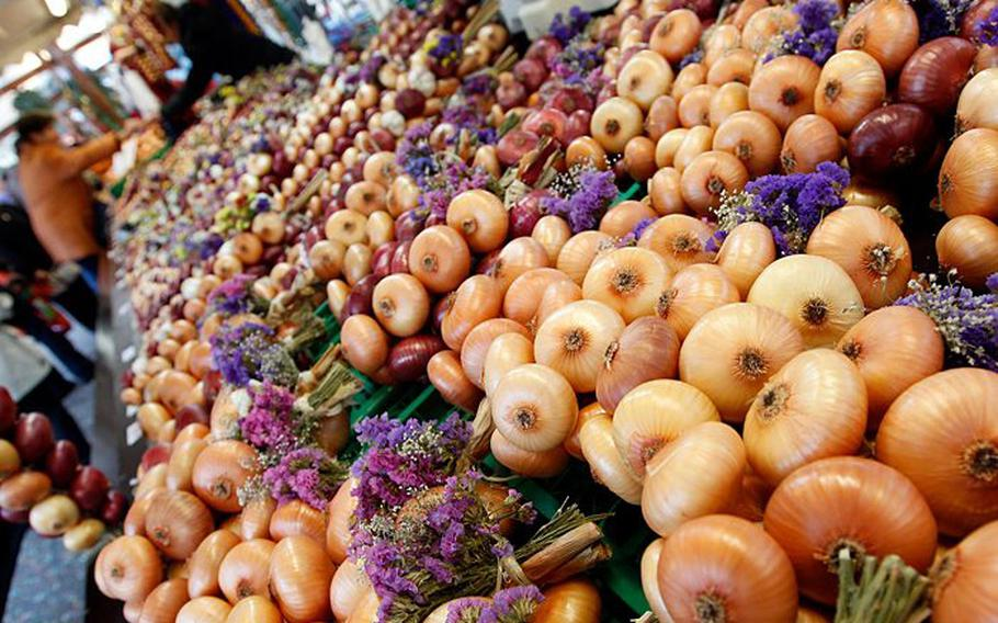 The Zibelemaerit, or Onion Market, in Bern, Switzerland, is Nov. 26. The once-a-month event is a farmers market and folk festival rolled into one.