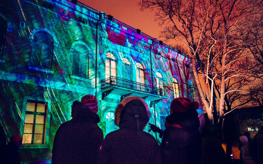 Lux Helsinki brings light to the darkest season of the year in Finland's capital city. The event takes place Jan. 5-9. Here, the installation is shown projected on Hakasalmi Villa's wall. More information is online at www.luxhelsinki.fi.
