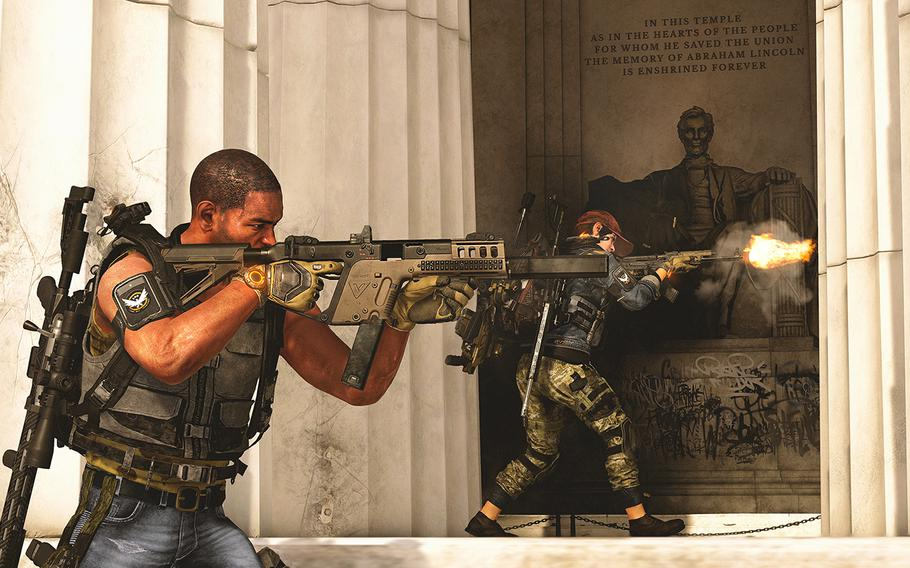 """Players can team up with others to defeat the different factions ruling Washington, D.C., in """"Tom Clancy's The Division 2."""""""