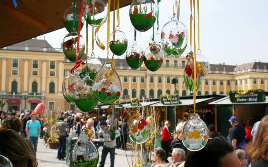 Easter markets are popping up around Vienna, Austria, including this one in which 60 vendors will sell their wares in front of Schoenbrunn Palace and kids can enjoy a crafts workshop. Vienna will host markets through April 21.
