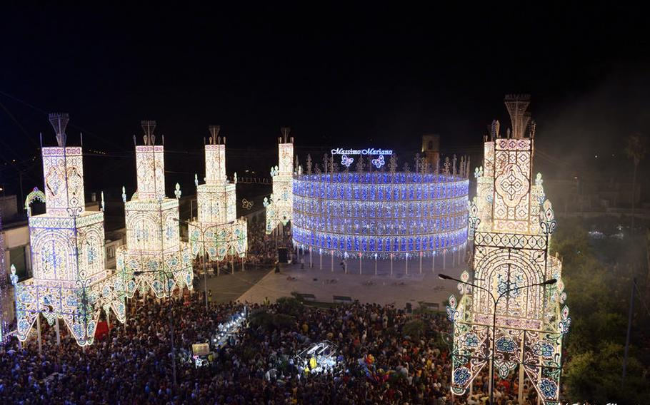 The Festival of Illuminations in Scorrano, Italy, is one of many worthwhile public events running in July. This festival takes place July 5-9.