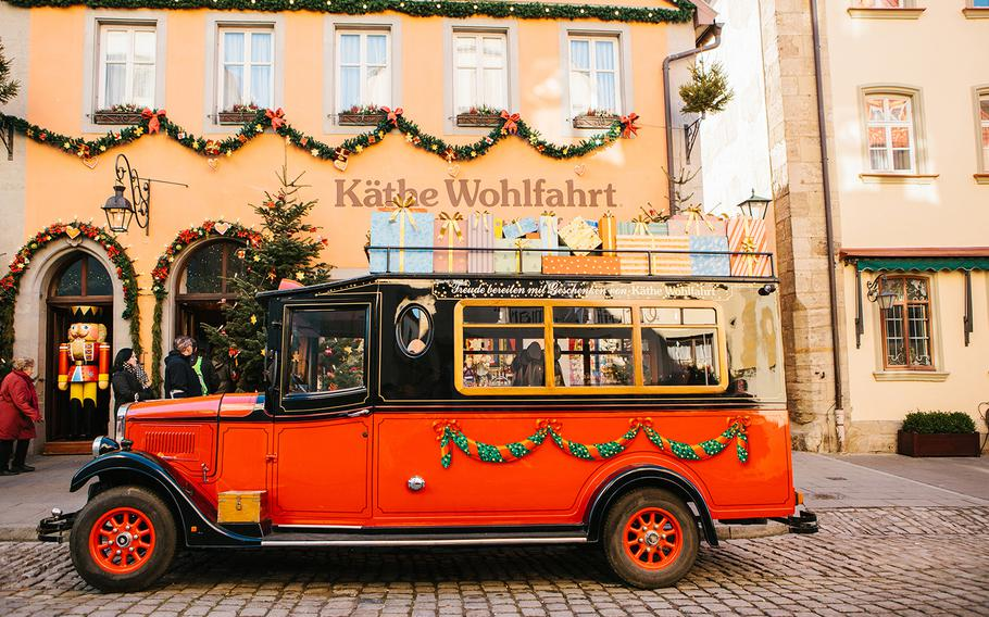 Kathe Wohlfahrt's Christmas store in Rothenburg ob der Tauber, Germany, is one of the hottest destinations in a town very popular with tourists.