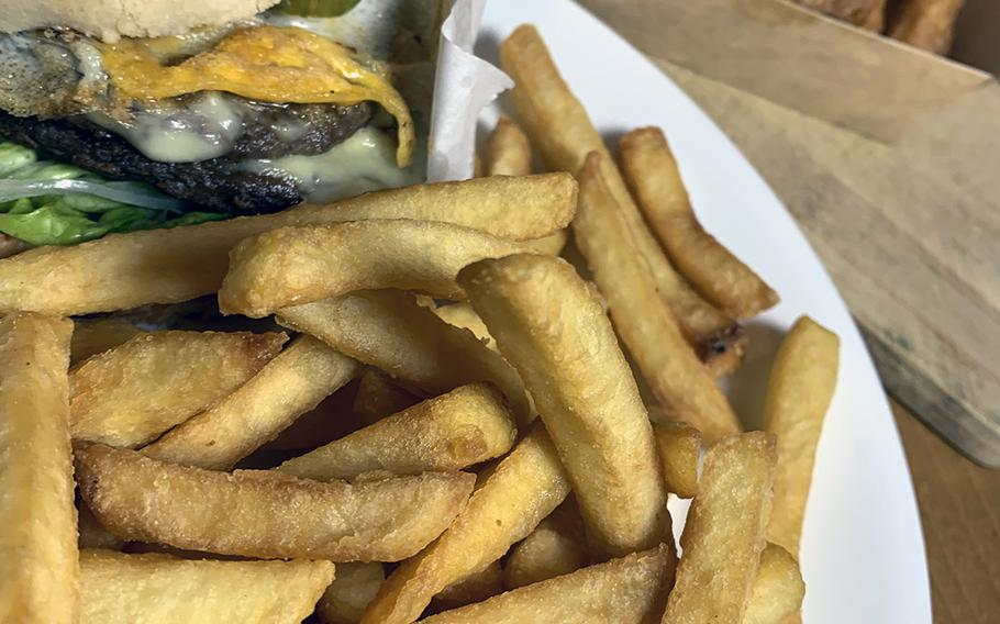 A burger, fries and nuggets from Boll Burger offers some of the tastes of American fast food but with a local touch.