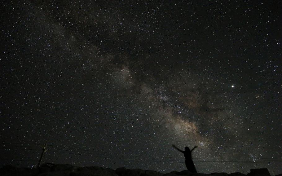 Stars and Stripes reporter Aya Ichihashi photographed the Milky Way during a recent trip to Iheya Island on Okinawa.