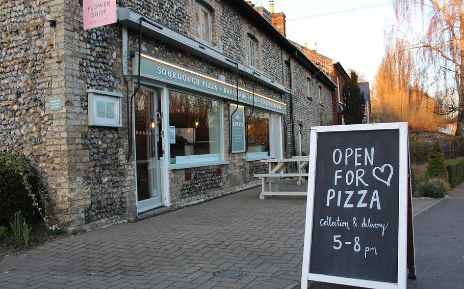 Lucy's Restaurant offers Mediterranean-style food in the middle of the English town of Bury St. Edmunds.  Lucy Davis and Francois Pretorius opened the business in November 2019 but it was only doing takeout or delivery during the coronavirus pandemic.