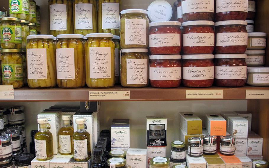 With vegetables, sauces, vinegars, oils and truffle salt, Il Ceppo in Vicenza, Italy, is a cornucopia of tasty delights.