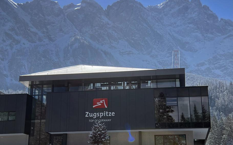 The Zugspitze welcome center on March 6, 2021 in Grainau, Germany. The Zugspitze is currently closed, but visitors can park nearby and hike the surrounding trails.