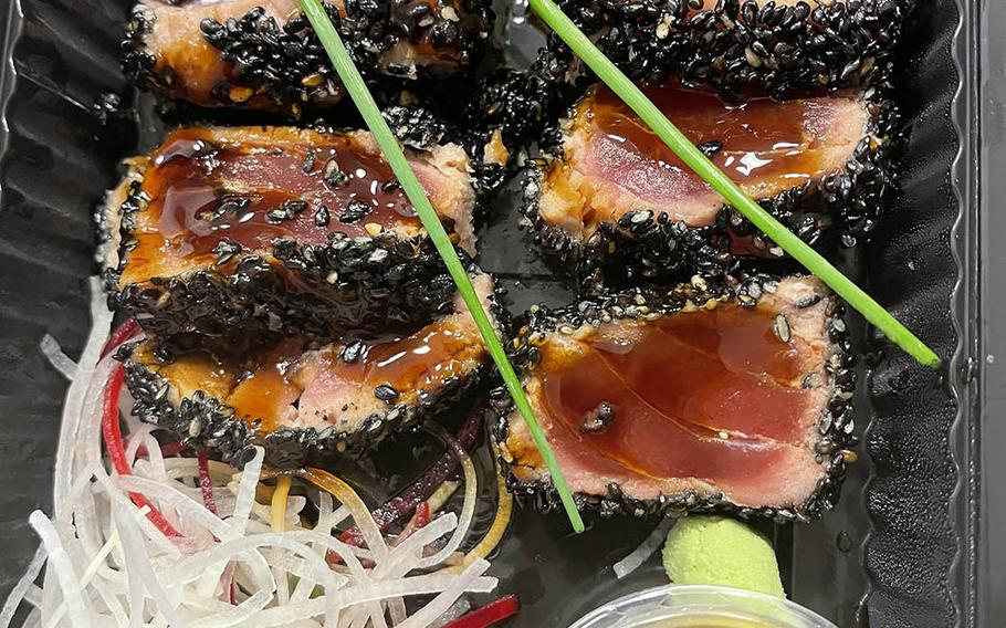"""Kokoro does well with the limited fish options available in Germany, creating choices, such as the gently grilled tuna tataki, with that certain """"wow"""" factor."""