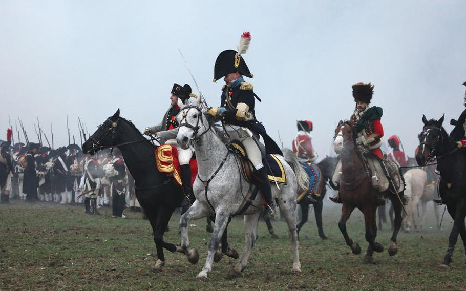 The Battle of Austerlitz from 1805 is regularly re-enacted near Tvarozna, Czech Republic. This year, the date is Nov. 27-29.