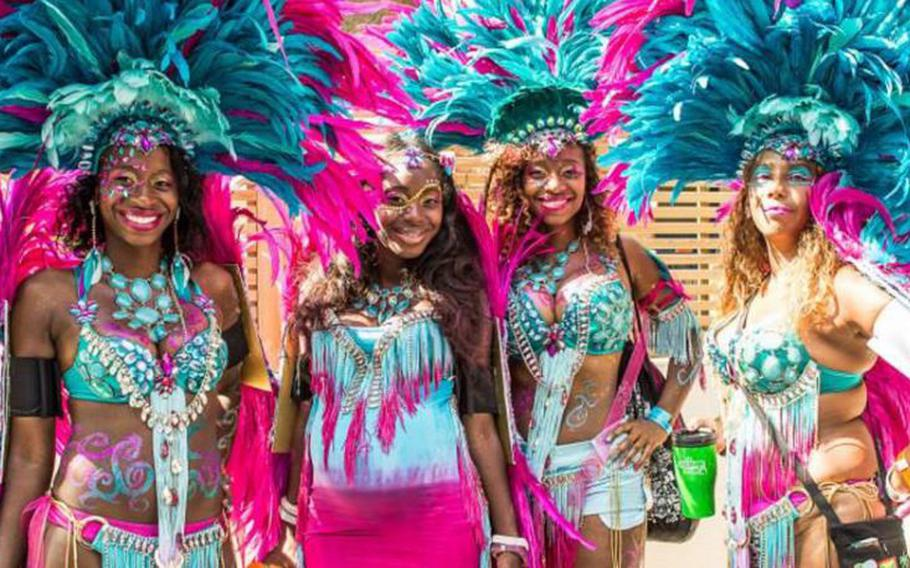 The Notting Hill Carnival, a celebration of Caribbean culture, takes place in London on Aug. 25-26.