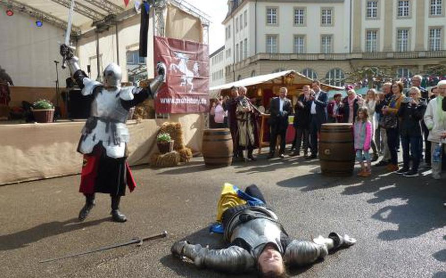 The Easter Spectacle at the Reduit goes medieval April 20-22 with three days of period-appropriate live music, entertainment and hearty food and drink in Mainz-Kastel, Germany.
