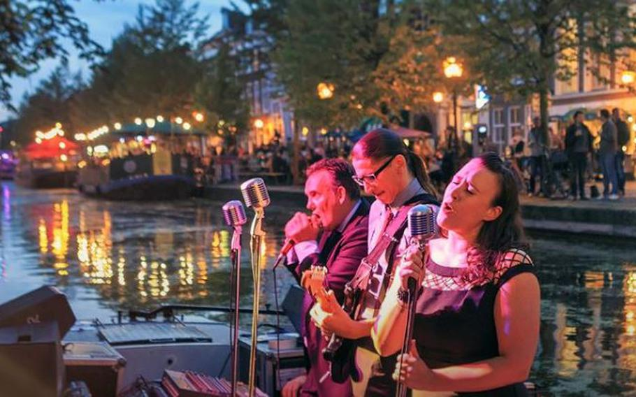 Jazz, funk and soul fill the air near -- and in some cases in -- the Bierkade, Dunne Bierkade, Groenewegje and Veenkade canals at The Hague, Netherlands, Aug. 29-31.