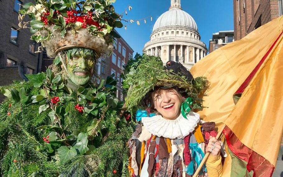 """Twelfth Night celebrations will take place at London's Bankside area on Jan. 5 starting at 2 p.m. Among the activities is the arrival of the Holly Man by boat, """"bringing the green"""" to those assembled on the riverbank. If you're among the lucky two in the crowd to find a bean or a pea in your cake, you will be crowned King or Queen for the day. Admission is free."""