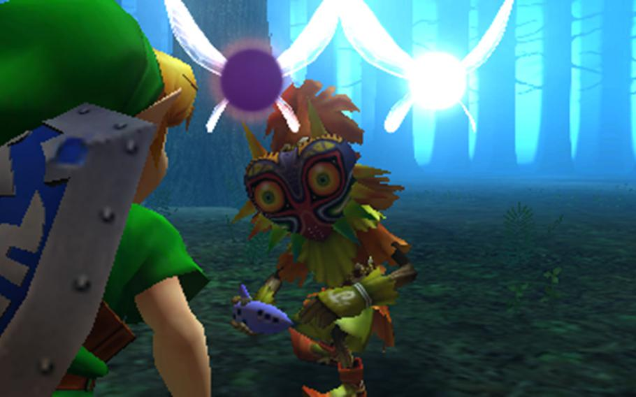 """""""Majora's Mask 3D"""" smooths out the framerate and updates the character models from the original game."""