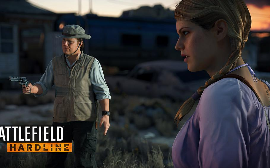 """In a nod to TV crime dramas, the game shows special cut scenes every time you turn it on to remind you what happened """"previously on 'Hardline.''"""""""