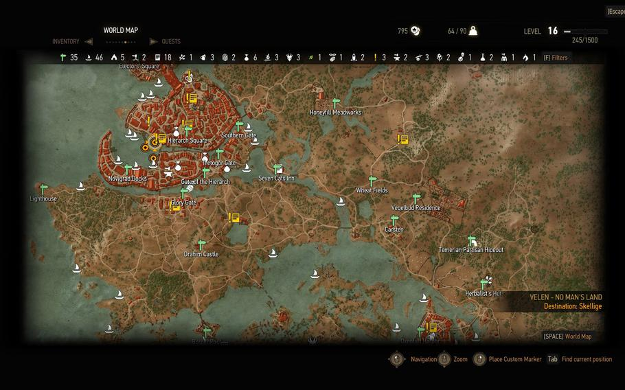 """""""The Witcher 3: Wild Hunt"""" is one of the largest, most fully-realized worlds ever created for a video game. What this screenshot shows is just a fraction of one area, of which there are numerous."""