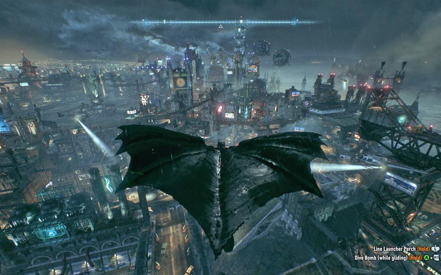 """Gotham City is broken up into three fully explorable islands in """"Batman: Arkham Knight,"""" and each are packed with things to see and do."""