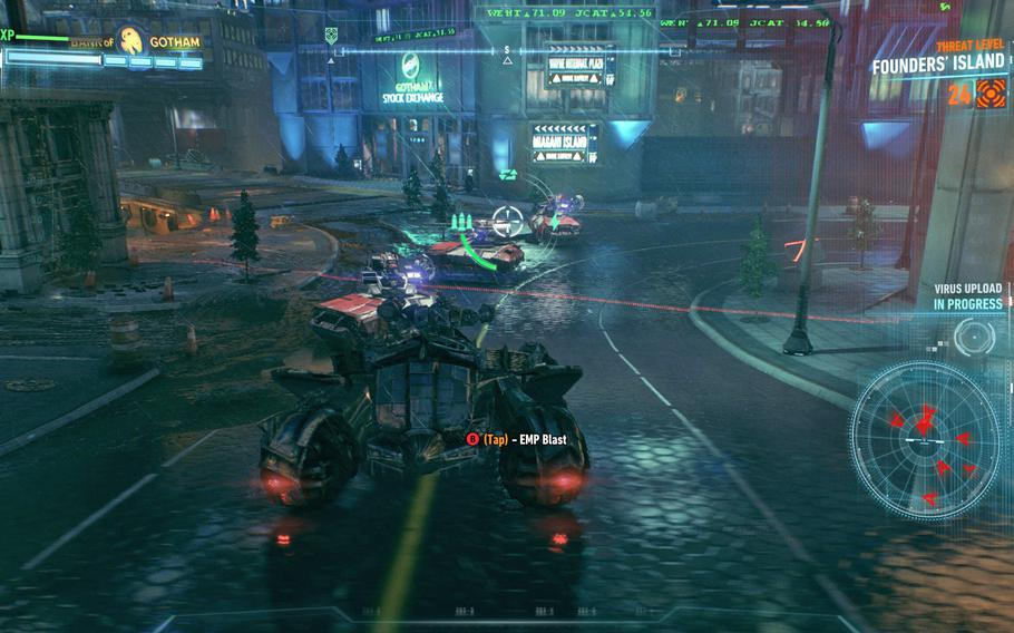 """The Batmobile, for better or worse, features heavily throughout the entirety of """"Batman: Arkham Knight"""" and influences everything from combat to puzzle solving."""