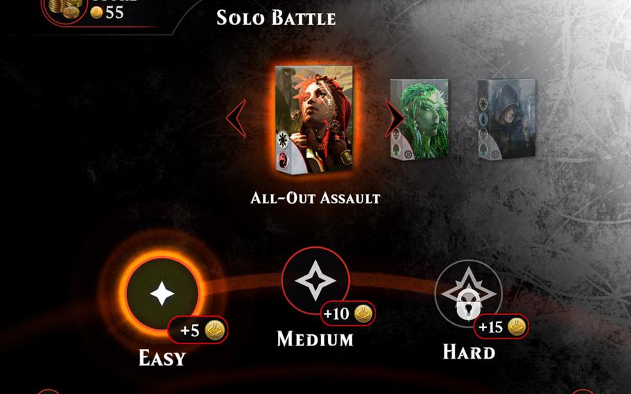Players earn coins as they rack up wins, complete rotating quests and completing the story mode. Those coins can then be exchanged for semi-randomized booster packs of six cards each.