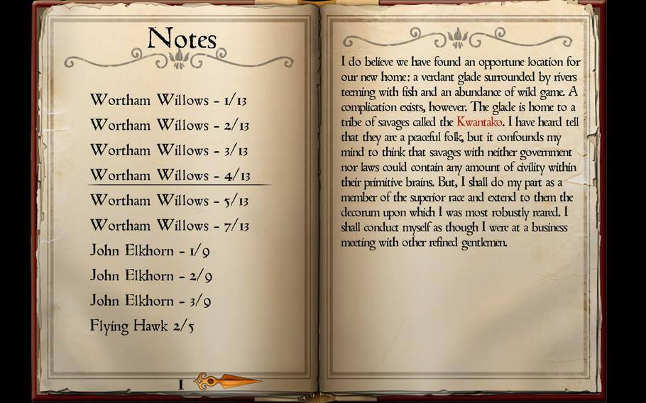 """Most of the story of """"Whispering Willows"""" is told through the collection of diary pages scattered throughout the game's world."""