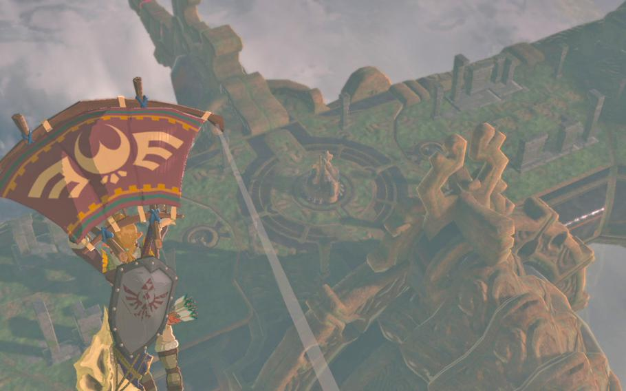 Part of the traversal of The Legend of Zelda: Breath of the Wild's enormous game world is dependent on a paraglider that allows Link the ability to soar around, as long as his stamina holds up.