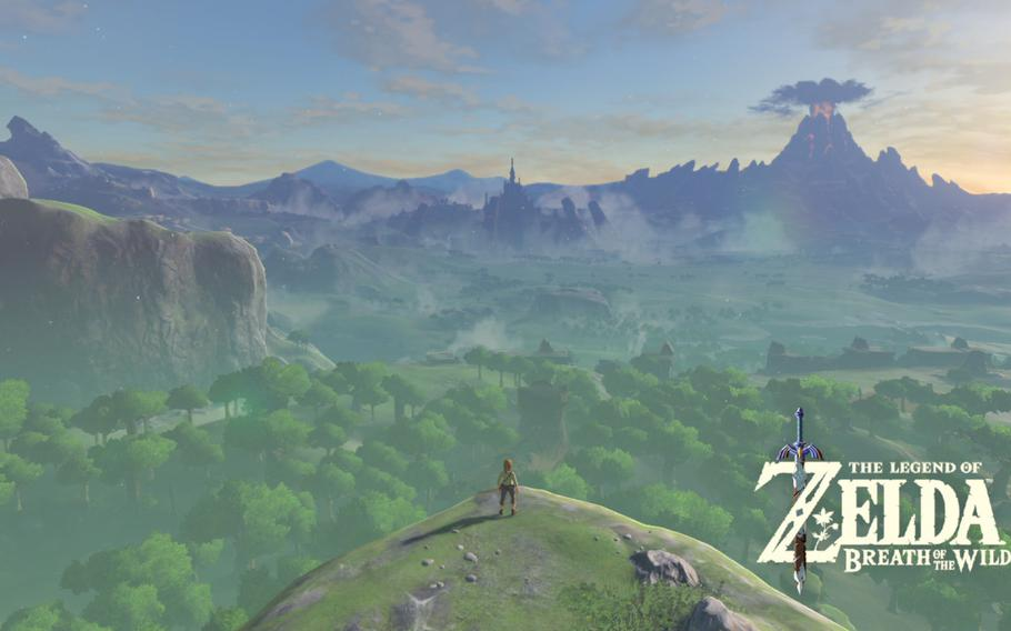 """""""The Legend of Zelda: Breath of the Wild"""" is the first truly open-world entry in franchise history. See that mountain in the distance? Link can climb it."""