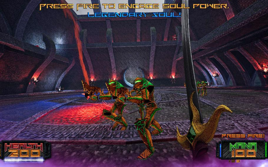 """""""Amid Evil"""" is a fantastic throwback to first-person shooters of the early '90s, with all of the quick-paced gameplay and low-poly graphics that brings."""