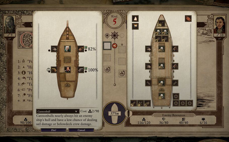 """Ship combat is the major addition to """"Pillars of Eternity II: Deadfire."""" In the early stages of the game battles will have to be chosen carefully."""