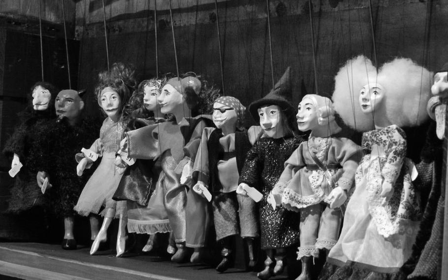 Marionettes full of character reflected in finely carved faces were among the items for sale at one of the Vienna markets in 2011.