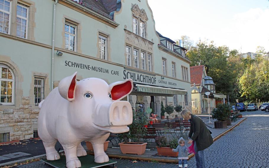 A mighty fine swine greets visitors to the Schweine Museum in Stuttgart, Germany, which opened in 2010. The museum is all about the role of the pig in society and spotlights the pig as cartoon character, stuffed animal and food staple.