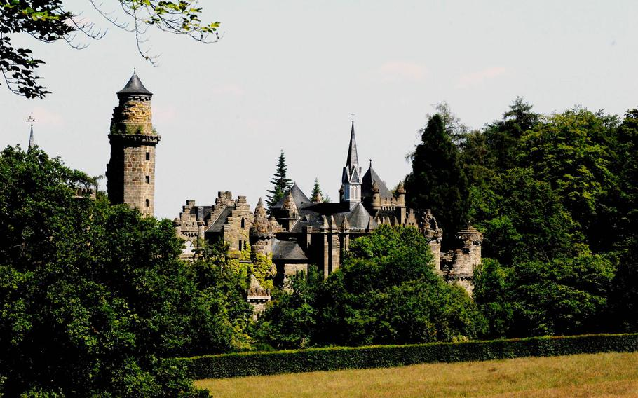 The Löwenburg castle is one of many striking attractions at Bergpark Wilhelmshöhe in Kassel, Germany. The park also offers wooded paths and other nature attractions.
