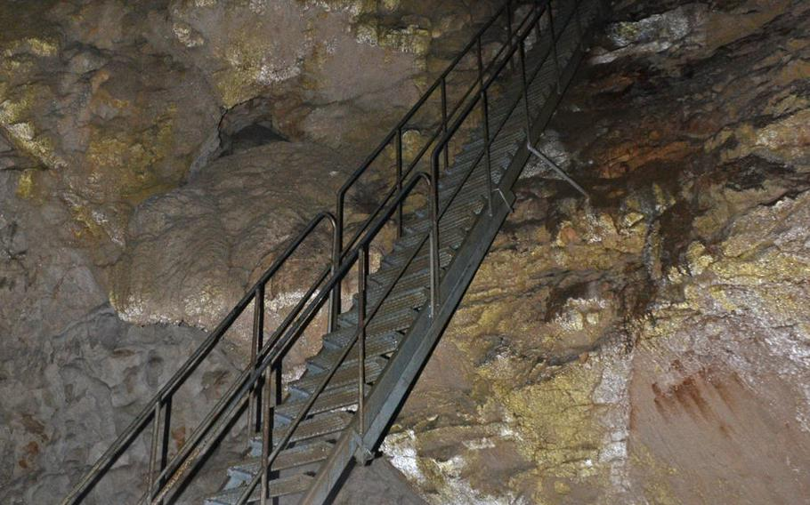 This 25-yard staircase is the first of six you'll encounter in the caves under Predjama Castle in Predjama, Slovenia.