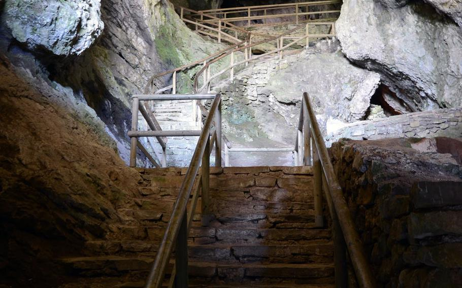 A hidden path located in the cave castle behind Predjama Castle in Predjama, Slovenia. Erazem of Predjama used a secret path through the castle to get food while the structure was under siege in 1484.