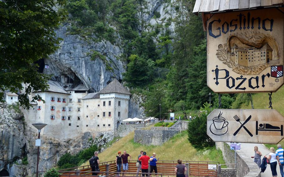 The view from Gostilna Pozar, the sole restaurant in Predjama, Slovenia, is  perfect while enjoying food or drink. The restaurant, near Prejama Castle, is open from 10 a.m. to 8 p.m.