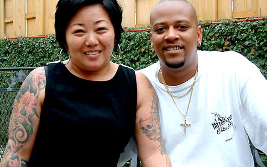 Mako and Ken Schurr operate Tattoo Studio Coko in Chatan, near the main gate to Kadena Air Base.