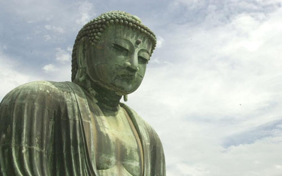 Daibutsu (The Great Buddha) in Kamakura, Japan.
