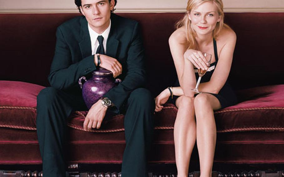 """Orlando Bloom and Kirsten Dunst star in Cameron Crowe's """"Elizabethtown,"""" one of several movies that will be shown at the London Film Festival."""