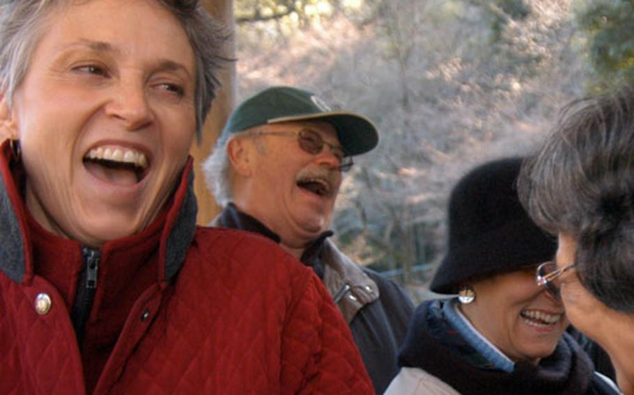 Laughter is a key ingredient to the Good Time Trekkers — a group made up of American teachers at the Department of Defense Dependents Schools and Japanese tour guides.