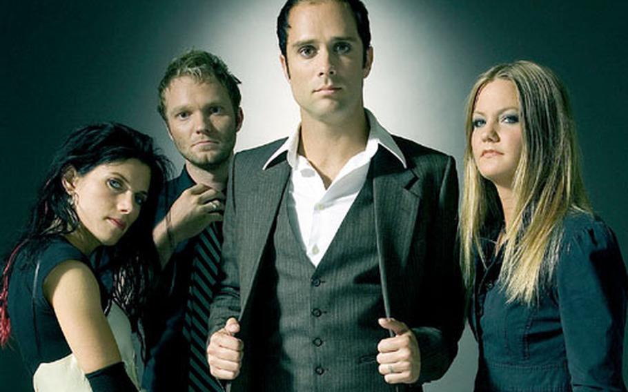 """Skillet's new CD, """"Comatose,"""" debuted at 55 on Billboard's Hot 200 albums chart earlier this month. From left are Korey Cooper, Ben Kasica, John Cooper and Lori Peters."""