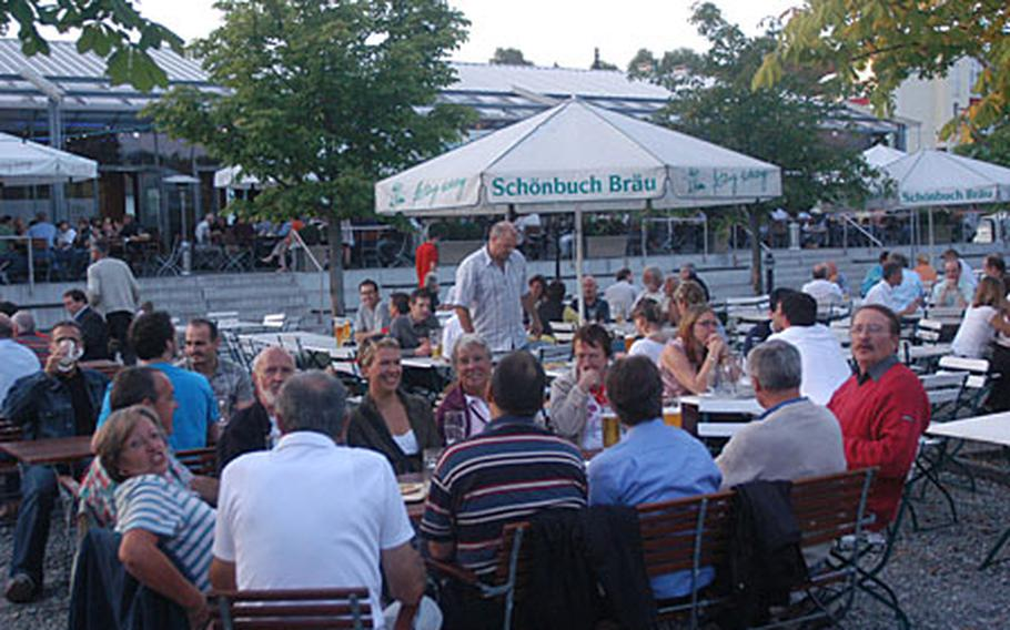 The Schoenbuch Braeu Brauhaus am Biergarten has a spread-out beer garden that is a great place to relax in Boeblingen, a suburb of Stuttgart that is heavily populated by the U.S. military crowd.