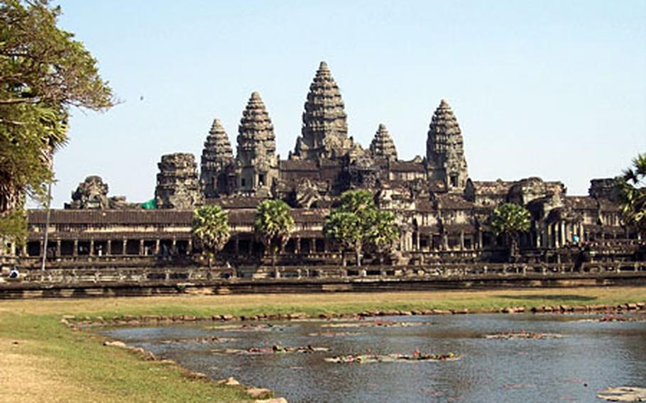 Angkor Wat, shown here, is considered the masterpiece temple of the Angkor civilization. Built in the 11th century, it was reclaimed by jungle after Angkor's inhabitants fled a few hundred years later. Today, it is far and away Cambodia's most popular attraction.