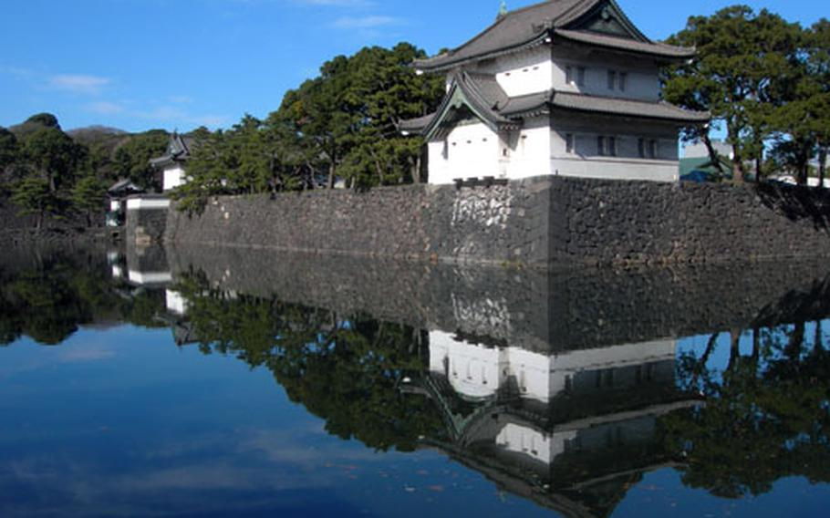 Deep moats built in the Edo period still line the Imperial Palace in Japan more for the scenery today than the protection of yesterday.
