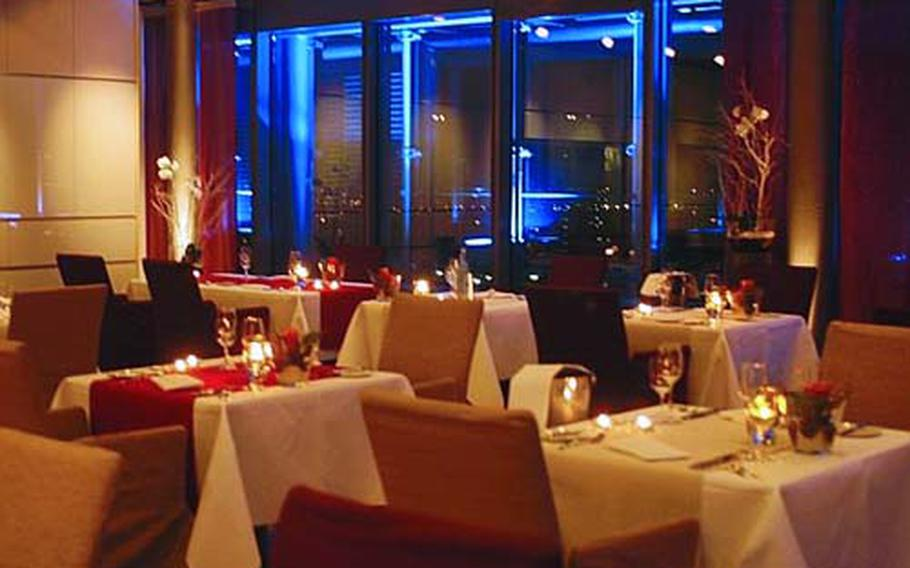 Schwarz Das Restaurant has been called the best restaurant in Heidelberg. Sleek yet romantic, it almost certainly has the best views from its perch on the 12th floor of the Print Media Academy near the train station.