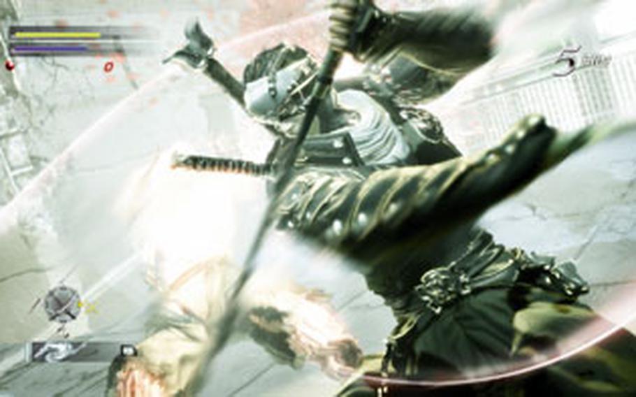 """Ken faces scores of mutants as he fights his way through Tokyo in """"Ninja Blade."""""""
